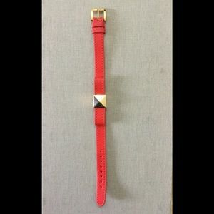 Kate Spade leather bow bracelet